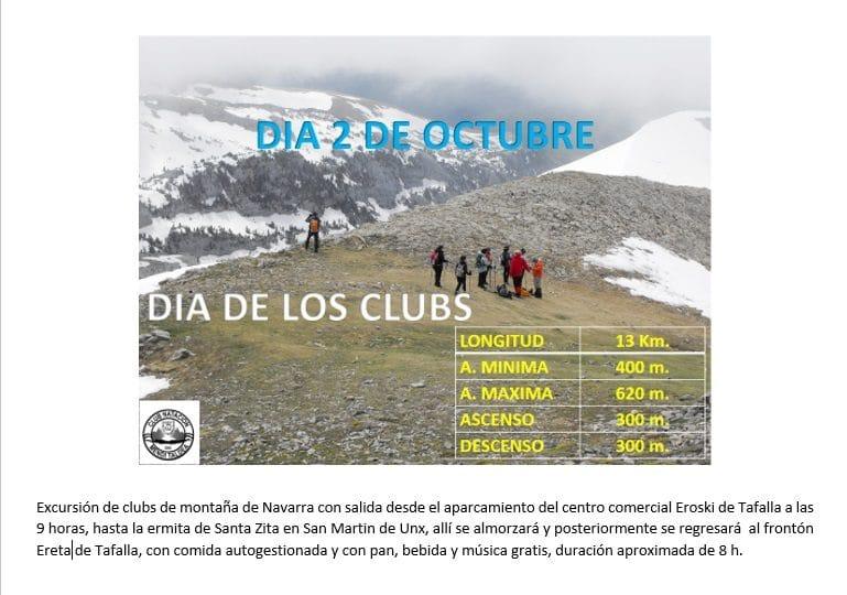 Día de los Clubs – 2 de octubre