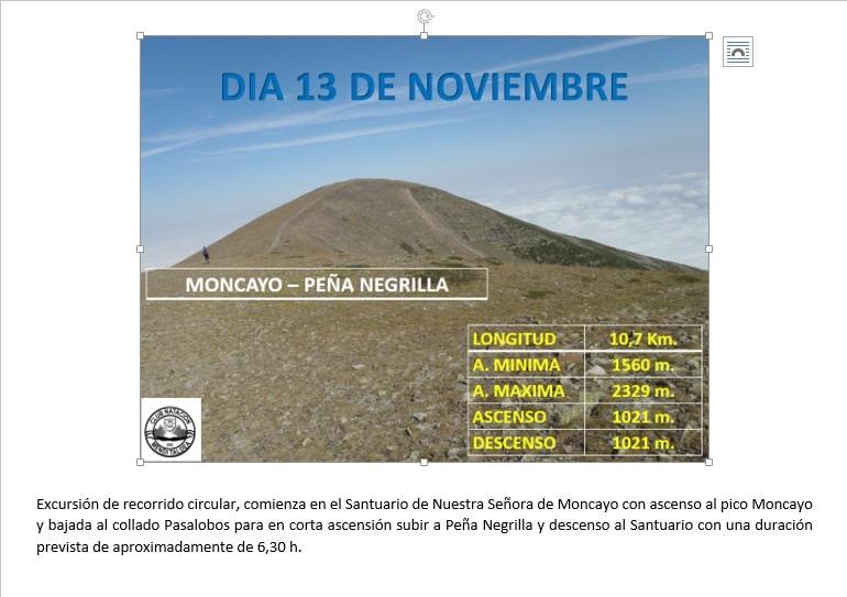 Moncayo – 13 de noviembre