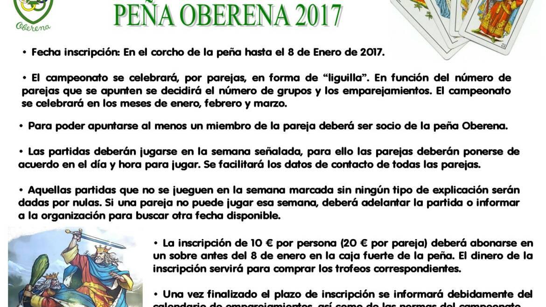 Campeonato de mus, Peña Oberena