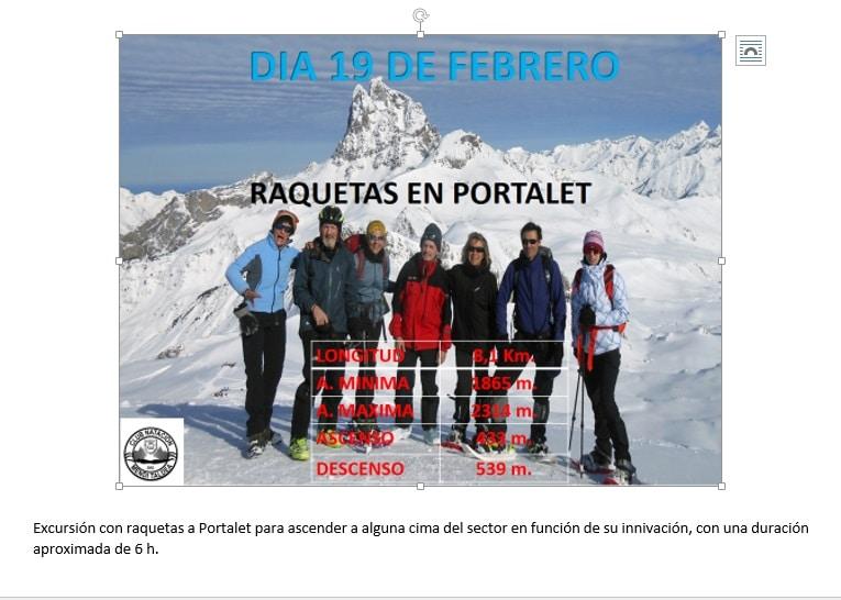 Raquetas en Portalet, 19 Febrero