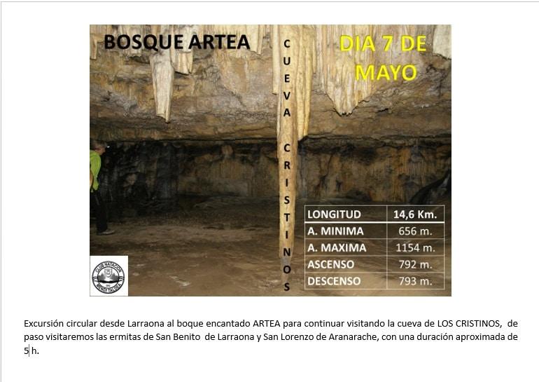 7 Mayo – Cueva de los Cristinos
