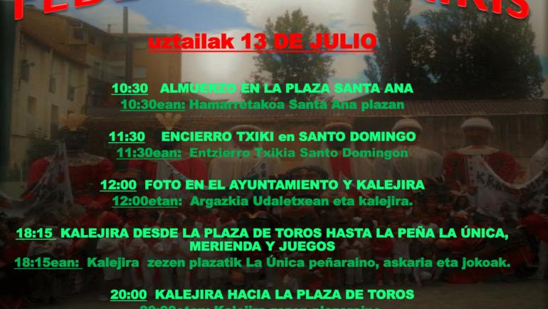 13 de julio, Día del txiki