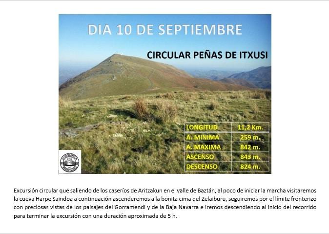 Circular Peñas de Itxusi- 10 septiembre