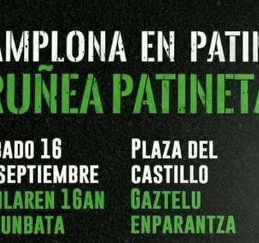 Pamplona en patines -Iruñea patinetan