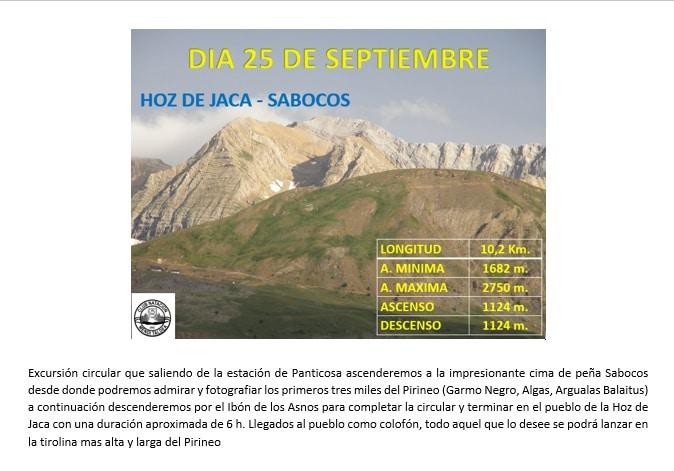 24 Septiembre – Peña Sabocos