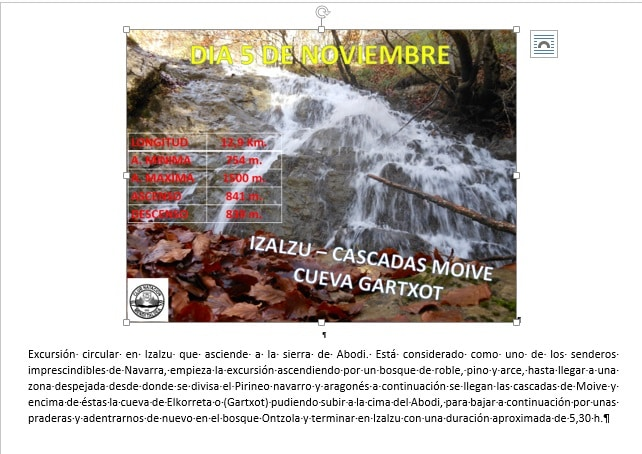 CANCELADA – 5 Noviembre: Izalzu-Cascadas Moive-Cueva Gartxot
