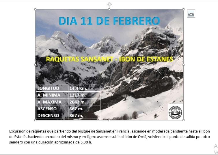 11 Febrero: Raquetas Sansanet – Ibón de Estanés
