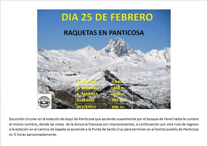 Montaña: 25 Febrero – Raquetas Panticosa