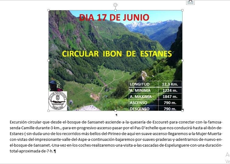 17 de Junio: Circular Ibón de Estanés