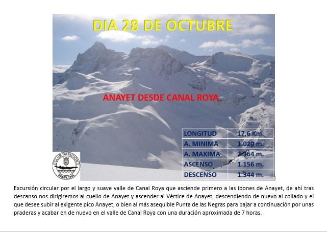 Montaña: 28 Octubre – Anayet desde la Canal Roya