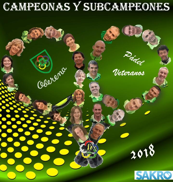 CAMPEONAS Y SUBCAMPEONES
