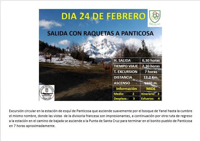 24 Febrero-Montaña: Salida de raquetas a Panticosa