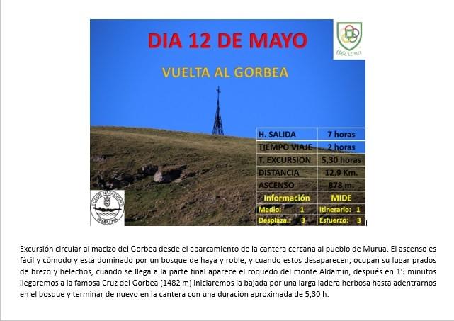 12 de Mayo: Vuelta al GORBEA desde MURUA