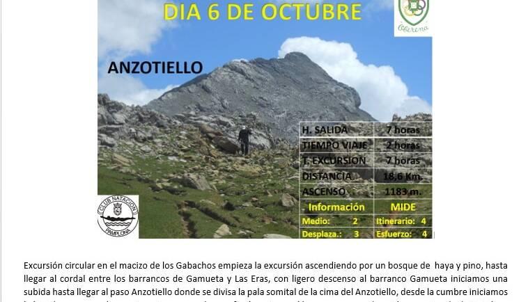 6 Octubre: Selva de Oza- Anzotiello (2.211 m) – Quimboa (2.182 m)