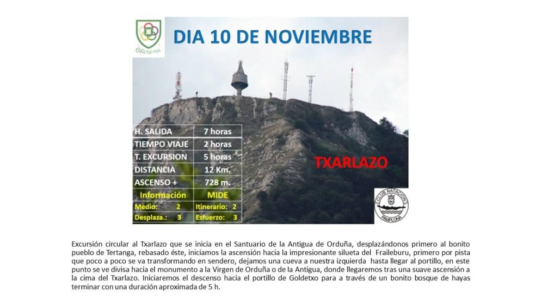 10 Noviembre: Orduña – Txarlazo – SUSPENDIDA