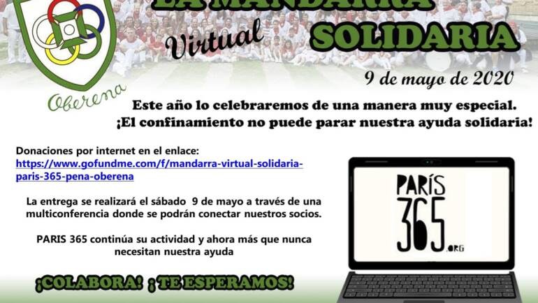 "La ""Mandarra"" virtual solidaria 2020"