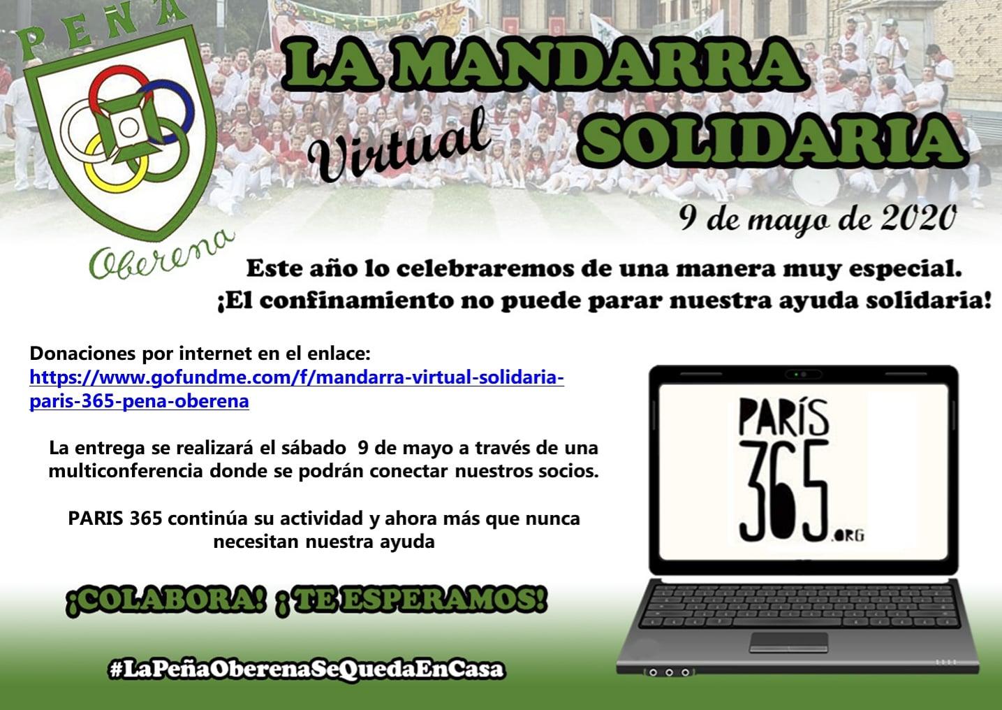 La «Mandarra» virtual solidaria 2020